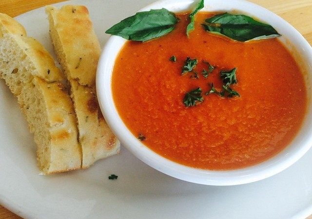 Roasted tomato soup for lunch