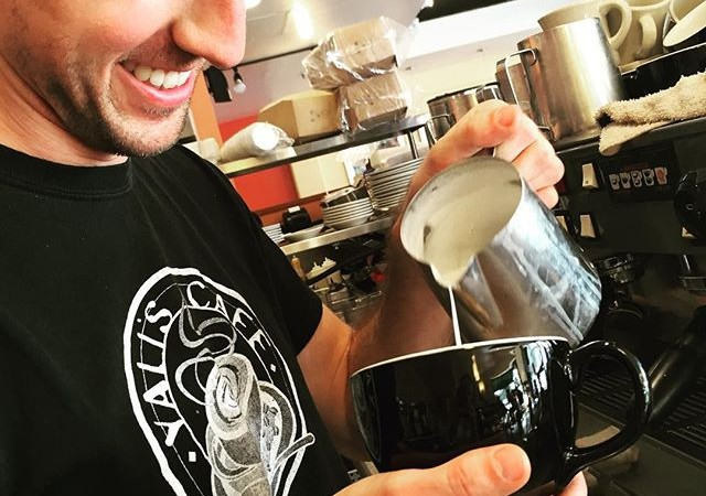 Meet your #baristaoftheweek !Name: JarrettWorking at Yali's for: 2.5 yearsFavorite Drink: Low-fat espresso macchiato Favorite thing about Yali's: Aside from making perfect art for your lattes, Jarrett loves our signature Yali's dark roast blend, which he enjoys without any cream or sugar!Stop by #yaliscafe to say hello to Jarrett and all of our other wonderful employees!