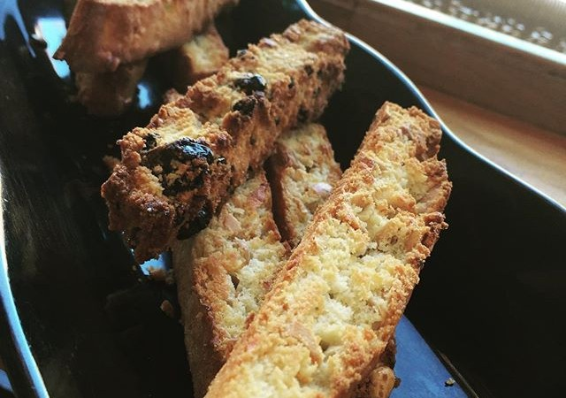 Can you guess our 2 new wonderful biscotti flavors? Freshly baked at #yaliscafe
