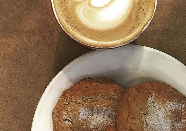 How do we snap out of the Monday Blues? Fresh Ginger Snap cookies & a delicious cup of coffee of course!