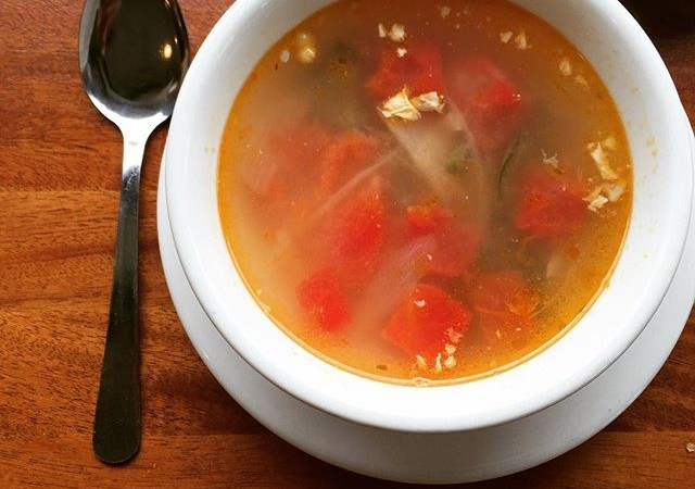 The fog is rolling in, but we're staying warm with a bowl of Chicken + Lime soup! Come in for a bowl, only at #yaliscafe !