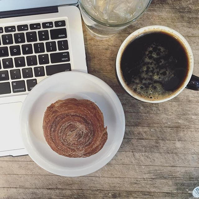 Grab a cup of coffee and get ready to kick this Morning's Buns! (Did I mention we also have amazing morning buns?)
