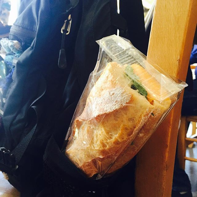 Ain't got time for the 12 o'clock line out the door? Slip a grab n' go sandwich in your backpack or briefcase - we have Salami, Cheddar + Arugula on Baguette & a Vegetarian w/Avocado & Pesto on Foccacia or Whole Wheat.