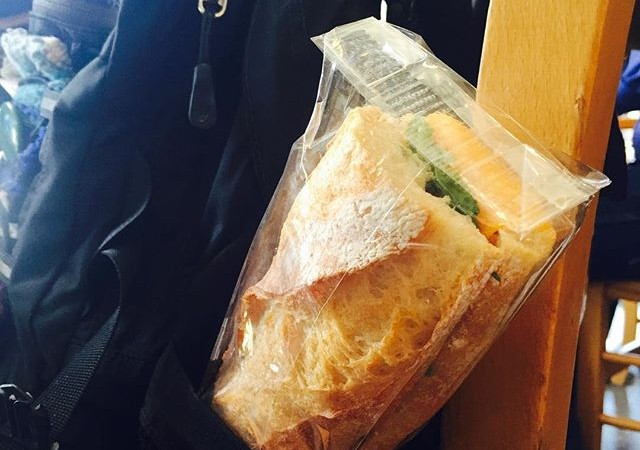 Ain't got time for the 12 o'clock line out the door? Slip a grab n' go sandwich in your backpack or briefcase – we have Salami, Cheddar + Arugula on Baguette & a Vegetarian w/Avocado & Pesto on Foccacia or Whole Wheat.